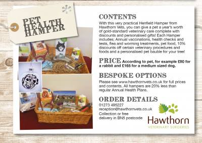 Christmas Pet Health Hampers Now Available!