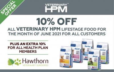 10% Discount on HPM lifestage diets in June